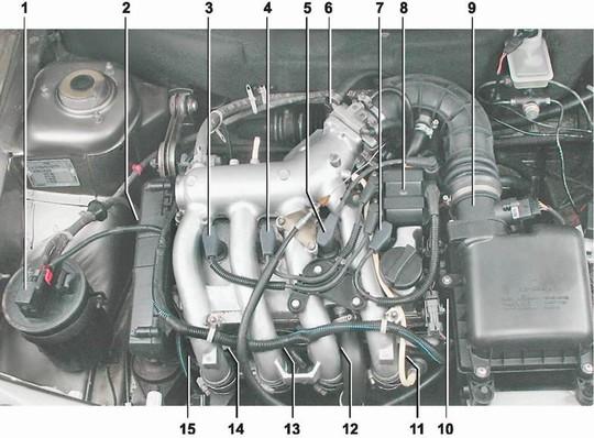 управления двигателем 2112