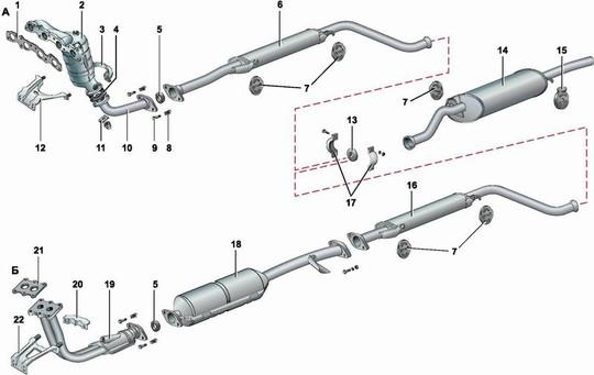 замена прокладки приемной трубы опель омега б
